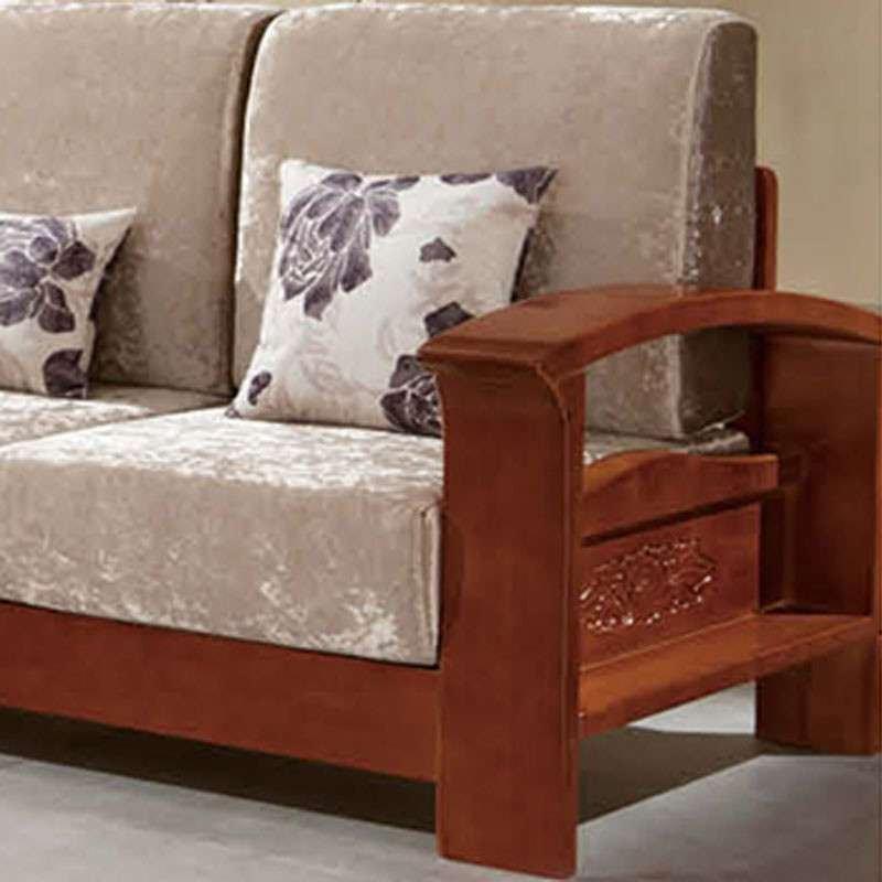 御品工匠 实木组合沙发 胡桃木沙发 组合贵妃转角布艺