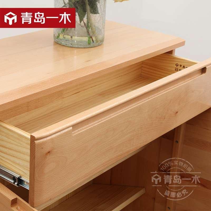 青岛一木家具 实木鞋柜1#玄关鞋柜简约组合榉木鞋柜 鞋架