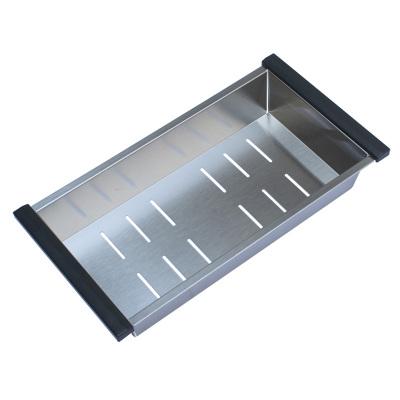 PULT普尔特 厨房水槽不锈钢沥水篮 欧式方形沥水盘 加厚过滤盆