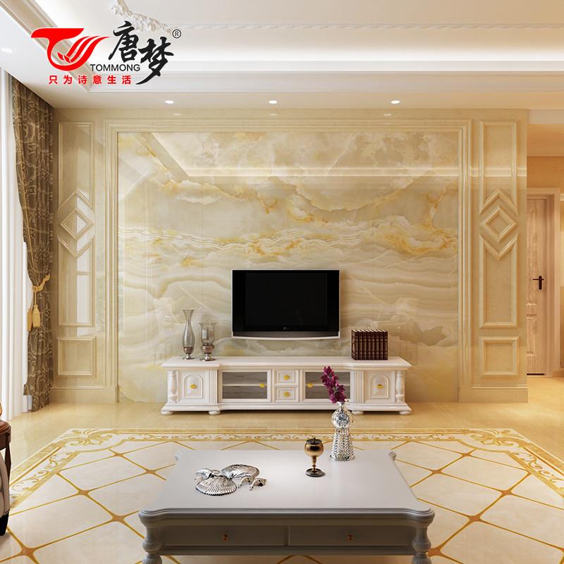 电视背景墙大理石客厅欧式简约背景墙微晶石