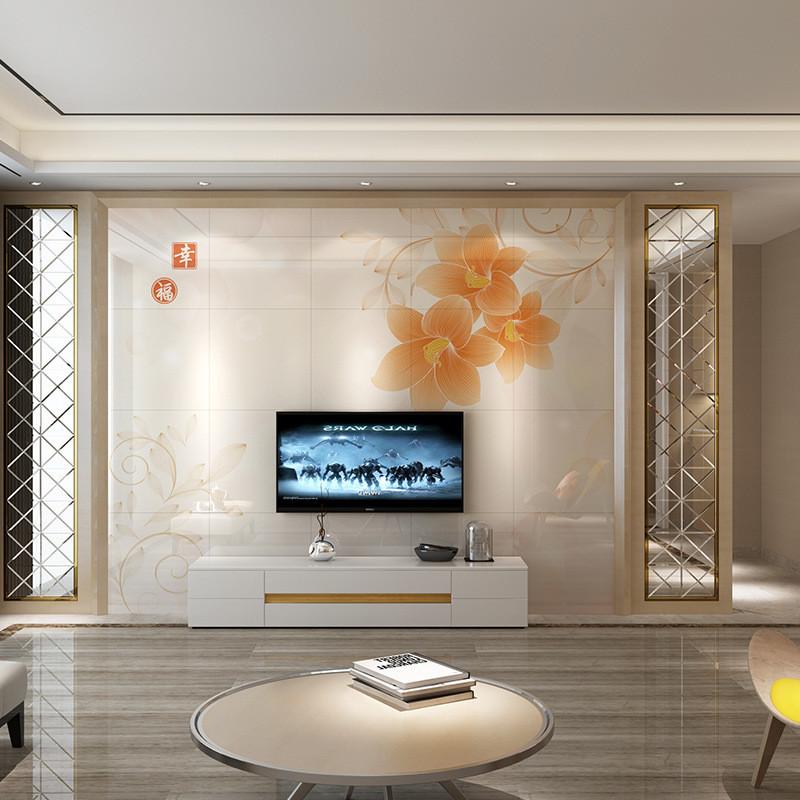 唐夢 瓷磚背景墻 高溫微晶石客廳電視背景墻 3d瓷磚現代簡約 幸福