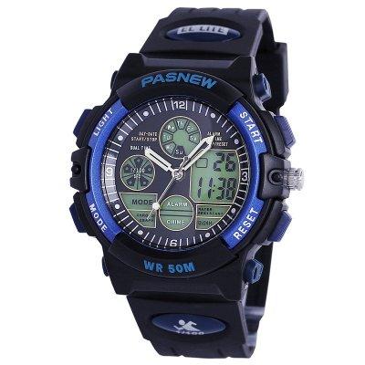 PASNEW百圣牛运动表电子表 男 50米防水游泳手表 计时表 青少年手表048B