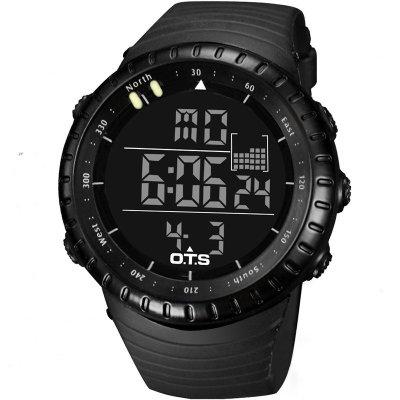 奥迪斯电子表系列O.T.S运动手表 大表盘50m防水游泳多功能闹铃时尚户外学生数字电子表 潮流简约男士表7005