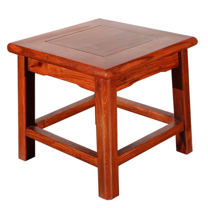 吕可可非洲花梨木 红木 客厅小凳子 板凳 实木 沙发凳