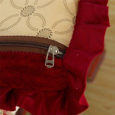 韩版花边实木红木沙发垫套装