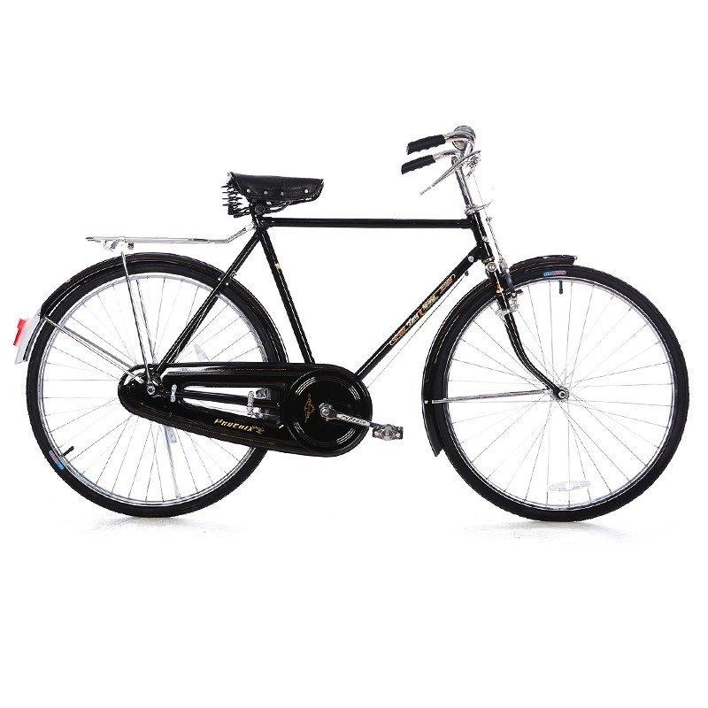 凤凰26寸老式车杆闸车复古车平把自行车男式直梁女式斜梁怀旧单车