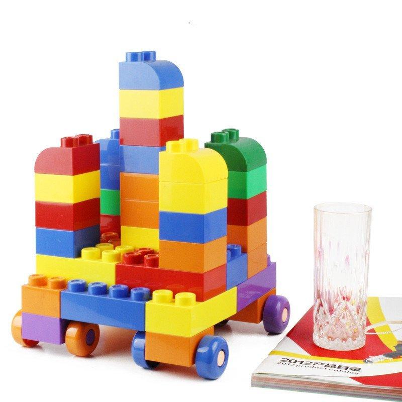 麦宝创玩组合拼搭宝宝早教益智塑料积木桌面玩具3岁以上小桶装