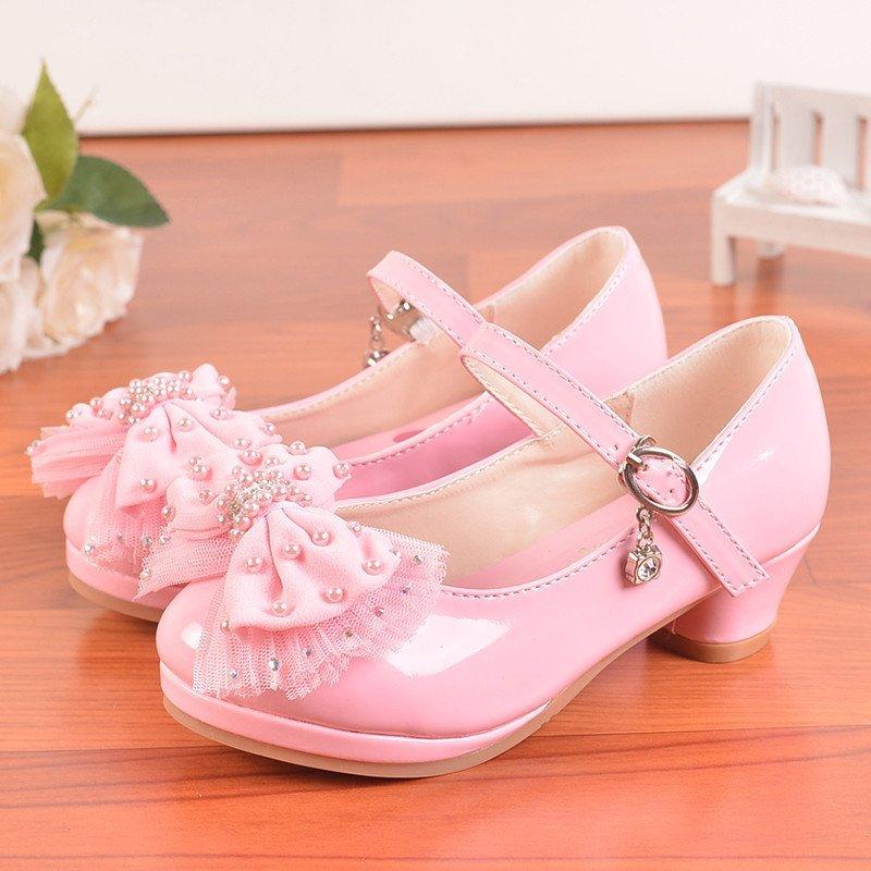 女童单鞋2015新款韩版蝴蝶结儿童高跟鞋女孩公主单鞋