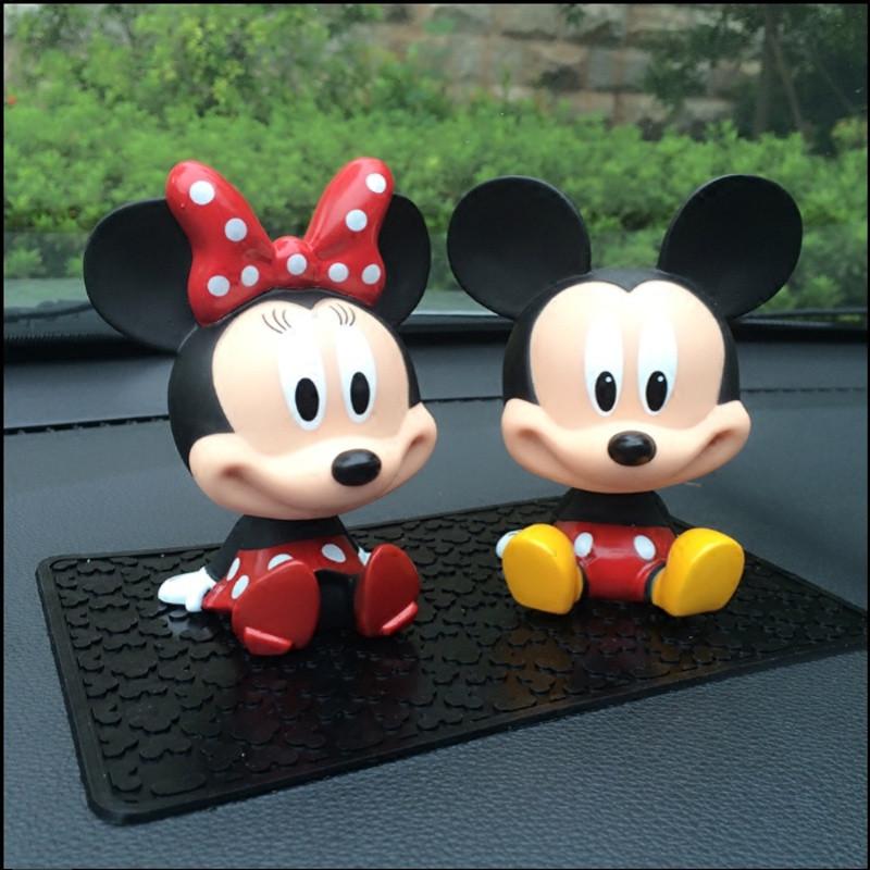 悦达 可爱迪士尼车上内饰品米奇米妮米老鼠 卡通车载摇头 创意汽车
