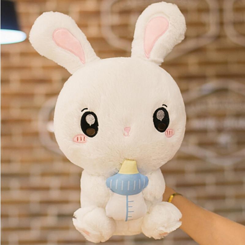 乐兔子玩偶公仔可爱小白兔生日礼物女儿童玩具抱枕兔毛绒玩具兔娃娃