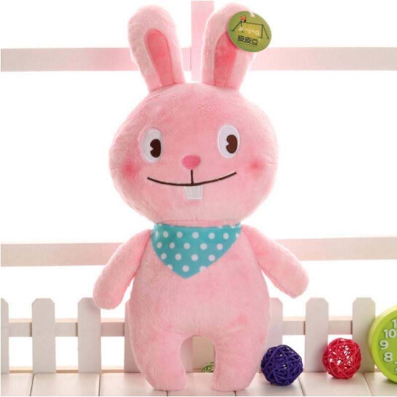 中天乐 可爱奶牛公仔抱枕卡通兔子毛绒玩具熊儿童玩偶小兔子布娃娃送
