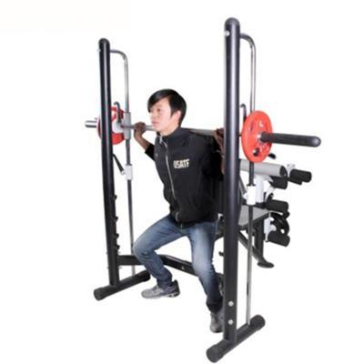 騏駿 安全多功能5762舉重床臥推深蹲架史密斯機杠鈴架力量訓練健身器材
