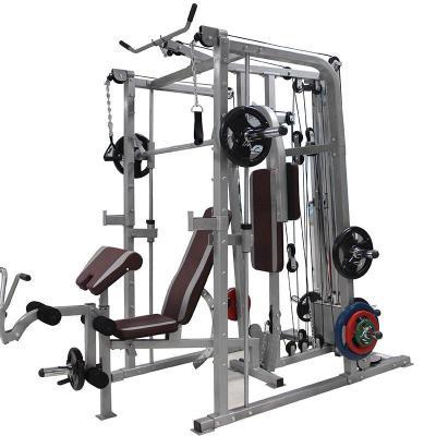骐骏 多功能史密斯机卧推深蹲架举重床大飞鸟综合训练器械组合健身器材