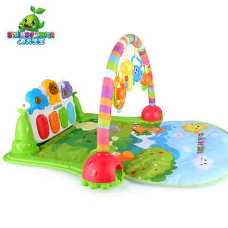春天宝宝丛林健身琴 婴儿健身架含音乐早教益智玩具6