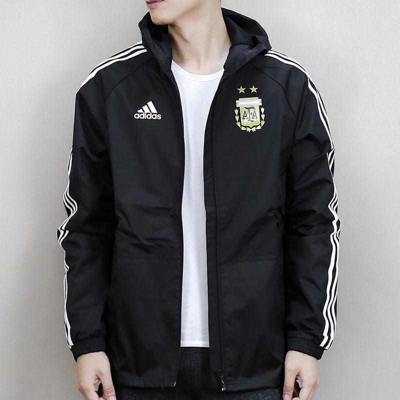 adidas阿迪达斯男装梭织三条纹外套运动服ay4286