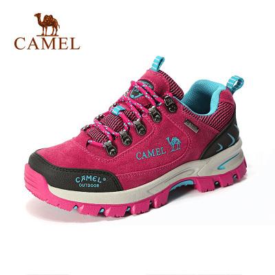 Camel骆驼户外舒适徒步鞋 女款系带减震徒步鞋