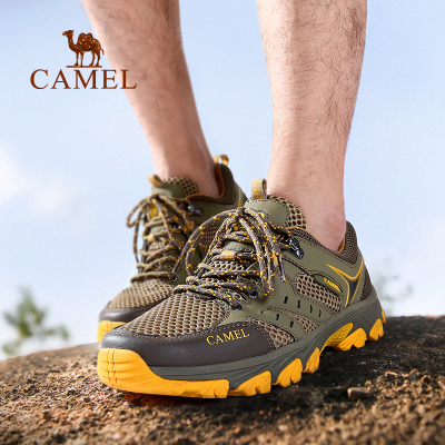 Camel/骆驼户外登山鞋 男女款透气耐磨防滑低帮徒步鞋网鞋登山鞋