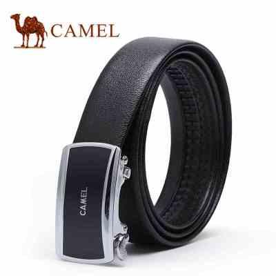 Camel/骆驼腰带 商务时尚休闲韩版潮男士自动扣皮带青年牛皮腰带裤带