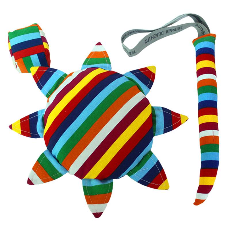 儿童户外安全软飞盘 幼儿园手工布艺沙包尾巴三件套户外运动玩具 格