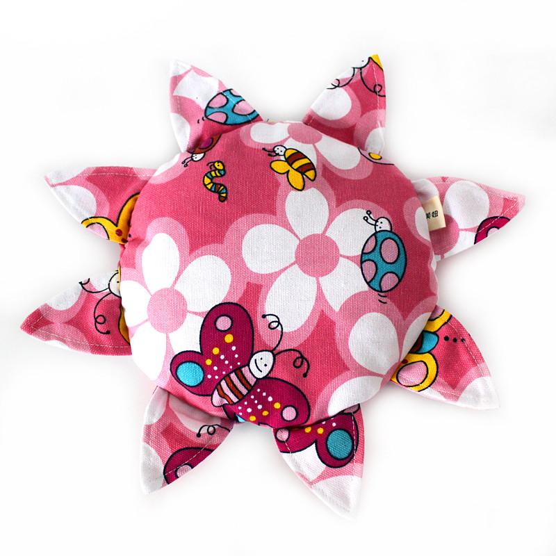 手工制作儿童安全软飞盘 幼儿园户外教学运动布艺飞碟