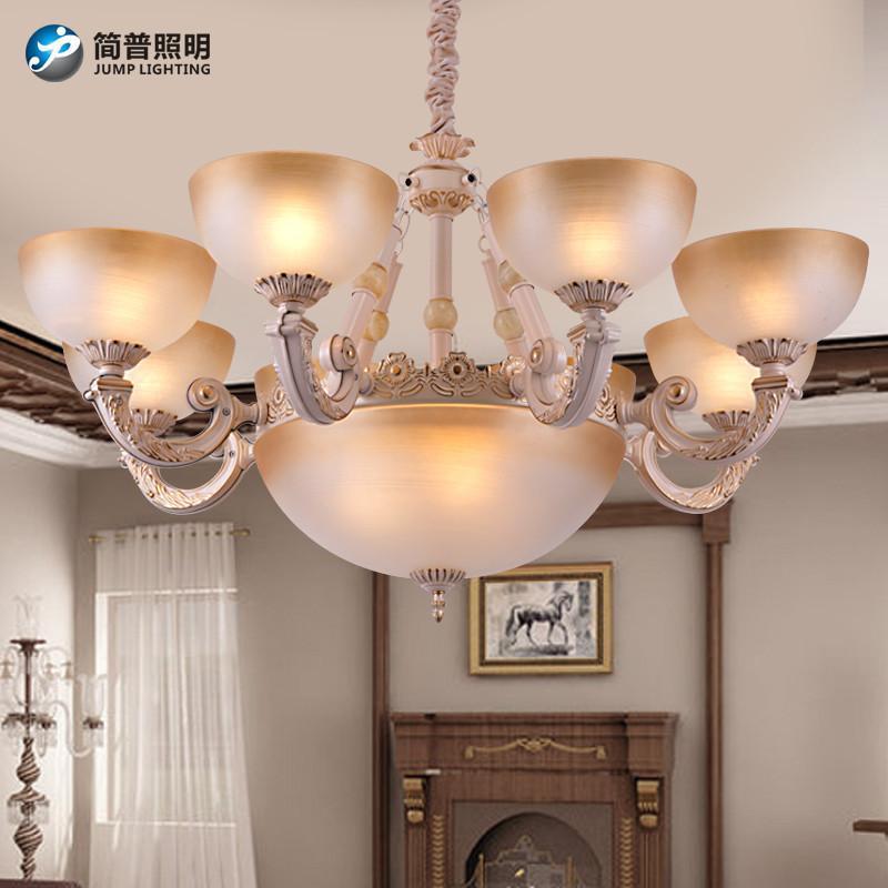 简普欧式家居家装灯具吊灯简约欧式吊灯客厅简欧吊灯田园客厅灯现代