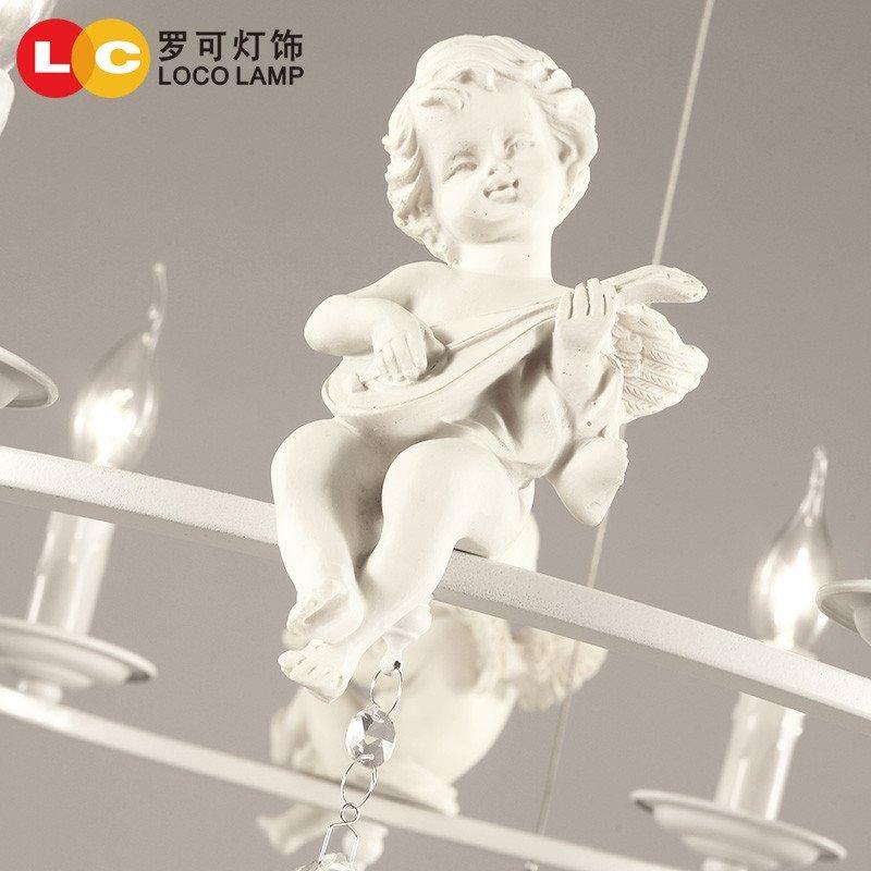 罗可北欧创意个性天使吊灯现代简约欧式餐厅儿童房客厅卧室灯具温馨42