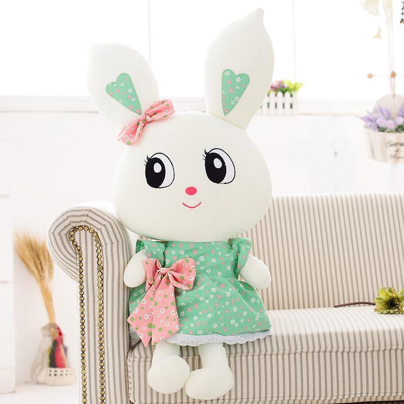 安吉宝贝 可爱大眼兔子公仔毛绒玩具布娃娃 大号兔兔玩偶 生日情人节