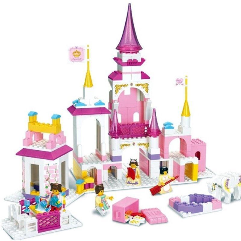 儿童玩具积木 粉色梦想公主魔幻城堡 385片小颗粒拼插积木