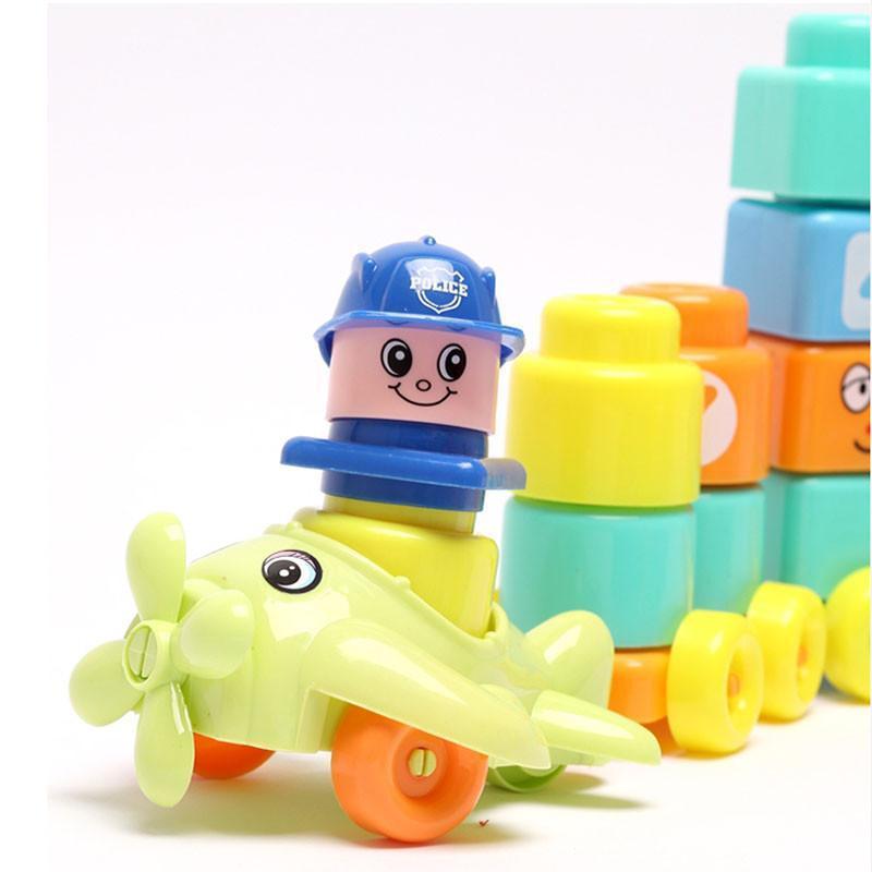 玩具大颗粒卡通动物积木 数字玩具 益智早教系列 102块大颗粒积木组合