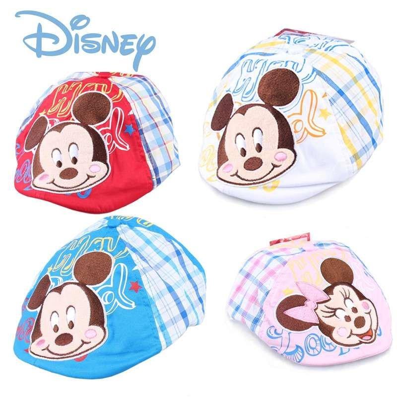 迪士尼儿童帽子春秋女童帽子贝雷帽 宝宝帽子纯棉时尚小孩遮阳帽