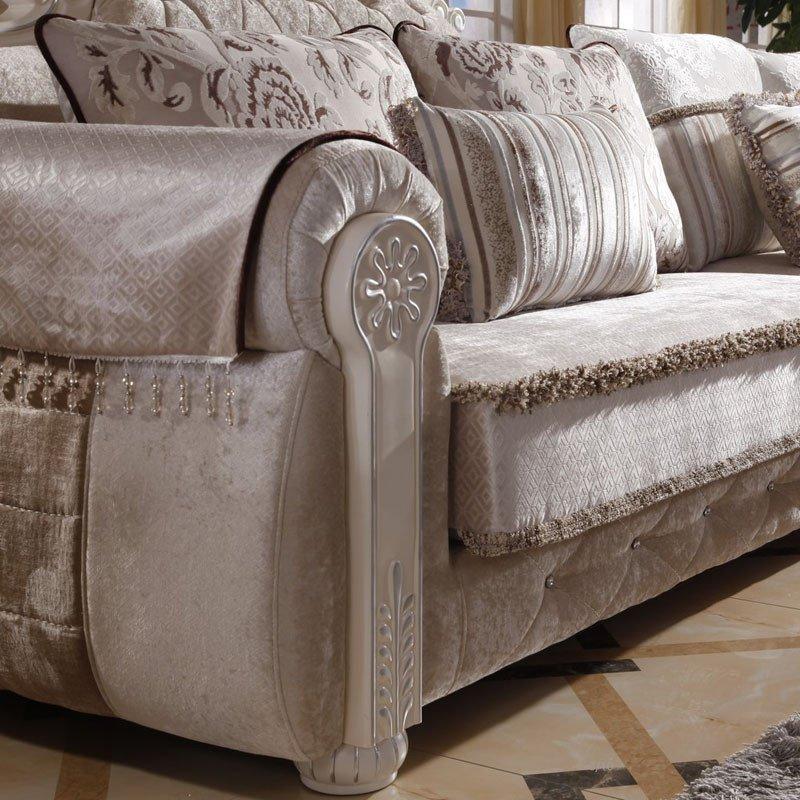 欧施洛 沙发 欧式沙发欧式实木布艺沙发贵妃小户型布艺沙发组合简欧沙