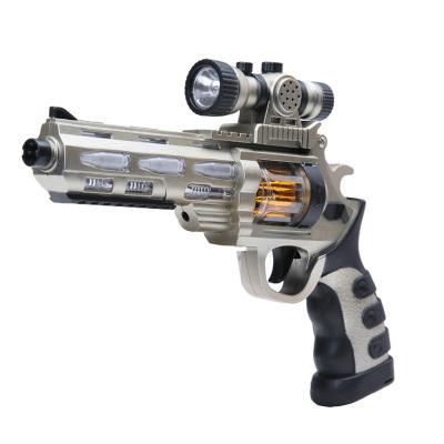 小小部队 玩具枪儿童声控枪左轮八音枪声光玩具男孩 左轮枪 儿童玩具枪