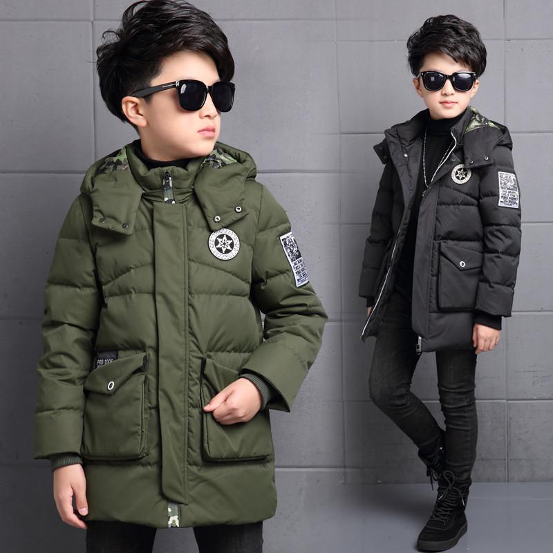 布奇酷童装男童羽绒服外套中长款加厚儿童男孩韩版男大童冬装中大童羽手机电池联想a60图片