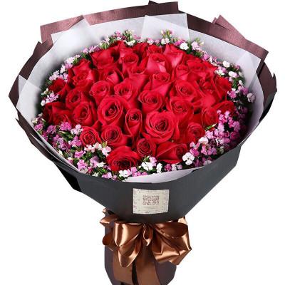 五二零 鮮花速遞全國 33朵紅玫瑰表白花束老婆女朋友生日禮物預定 北京上海成都南京重慶杭州深圳廣州花店同城送花上門