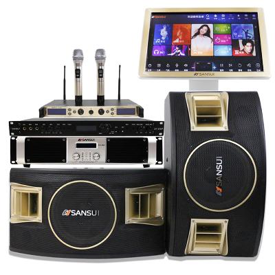 山水(SANSUI) SP2-11 家庭KTV音響套裝家庭影院專業卡拉OK會議套裝帶點歌機效果器