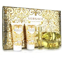 正品Versace范思哲 幻影金钻晶钻女士香水50ml四件套奢华礼盒生日
