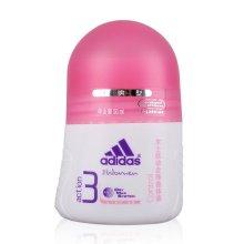 Adidas/阿迪达斯女士走珠香体液 跃动50ml 止汗清新花香 持续抑汗