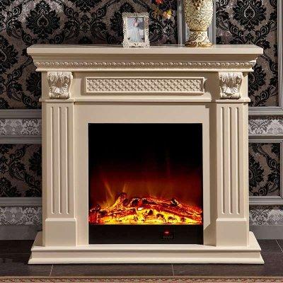 帝轩名典1.2/1.5/2米欧式壁炉 实木美式电壁炉装饰白色电视壁炉柜