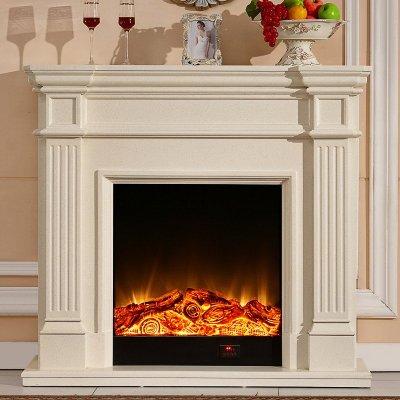 帝軒名典 歐式壁爐裝飾柜 1.2米美式簡約實木壁爐架 取暖LED爐芯