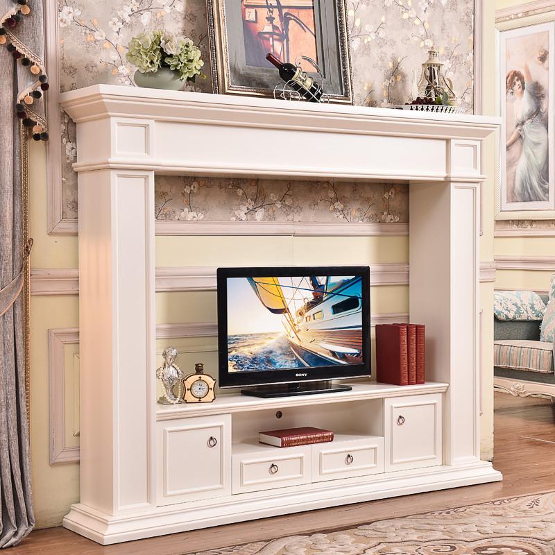 帝轩名典 欧式电视柜壁炉装饰柜 美式时尚简约电视柜壁炉 带抽屉
