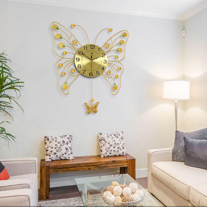 久久达创意挂钟 客厅现代简约个性艺术欧式 卧室静音钟表时钟石英钟挂