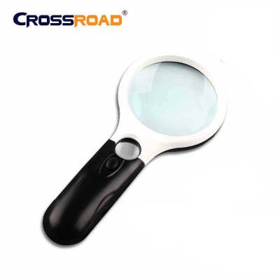 CROSSROAD 户外室内放大镜带LED灯 手持式阅读看报鉴赏放大镜
