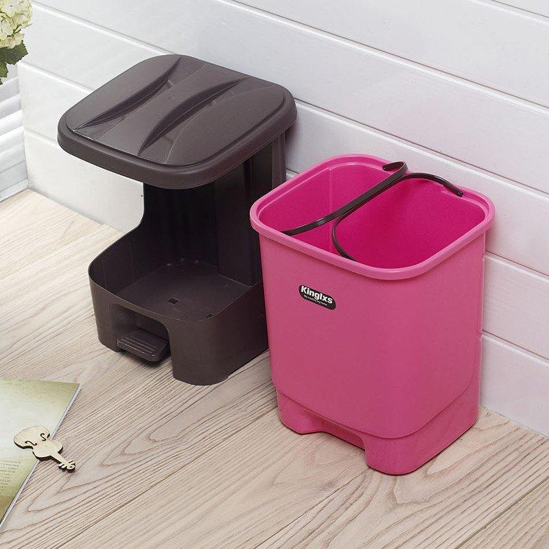 脚踏时尚创意塑料垃圾桶
