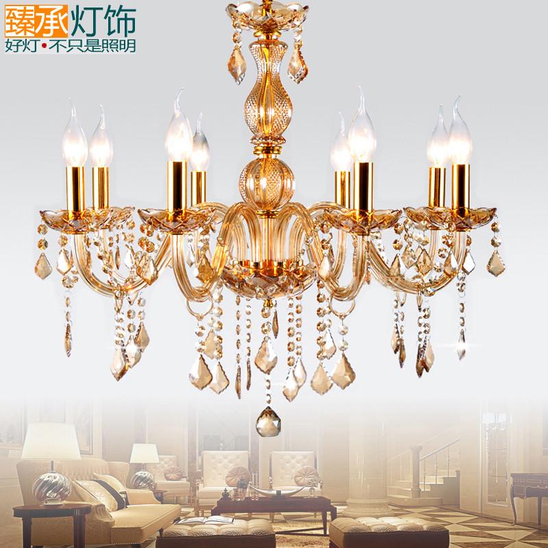 吊灯欧式水晶灯现代简约客厅灯餐厅卧室灯具8007