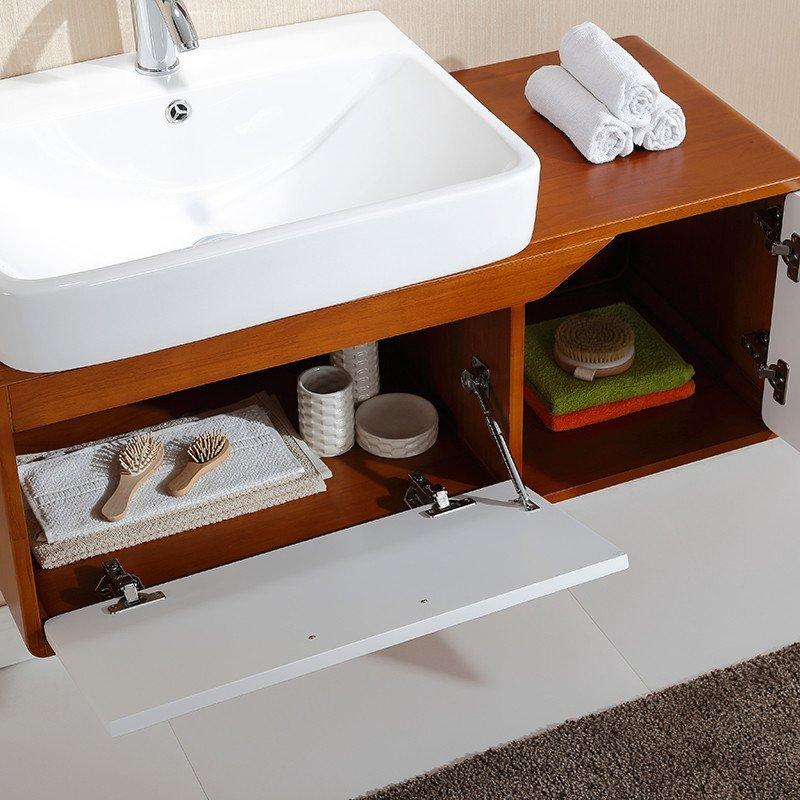 心海伽蓝卫浴 北欧风格实木浴室柜组合4157
