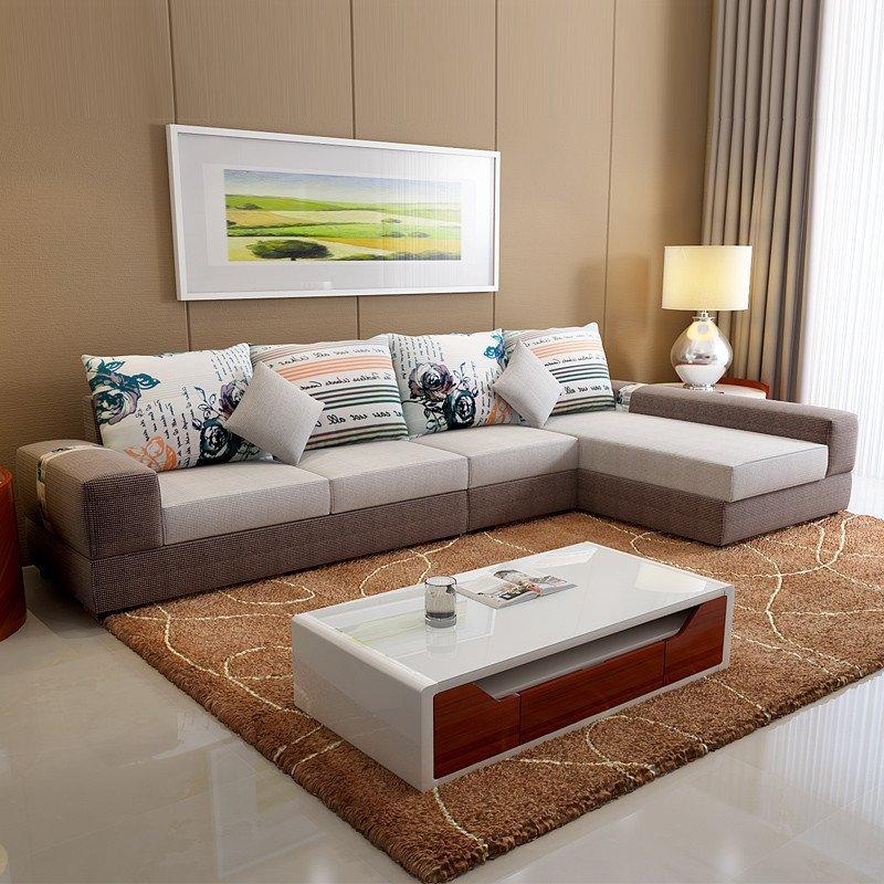 第六日 现代布艺沙发组合 小户型客厅转角沙发家具