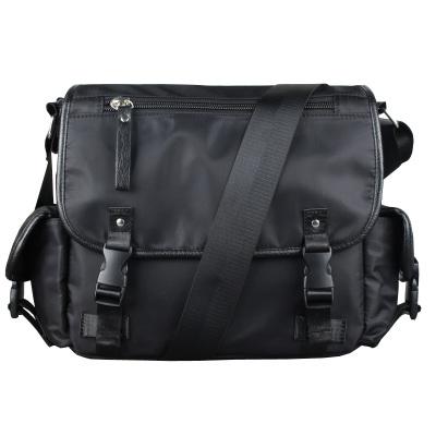 爱牧格AIMUGE  男士单肩包男包 时尚休闲单肩斜跨包尼龙牛津布潮流书包百搭横款包包