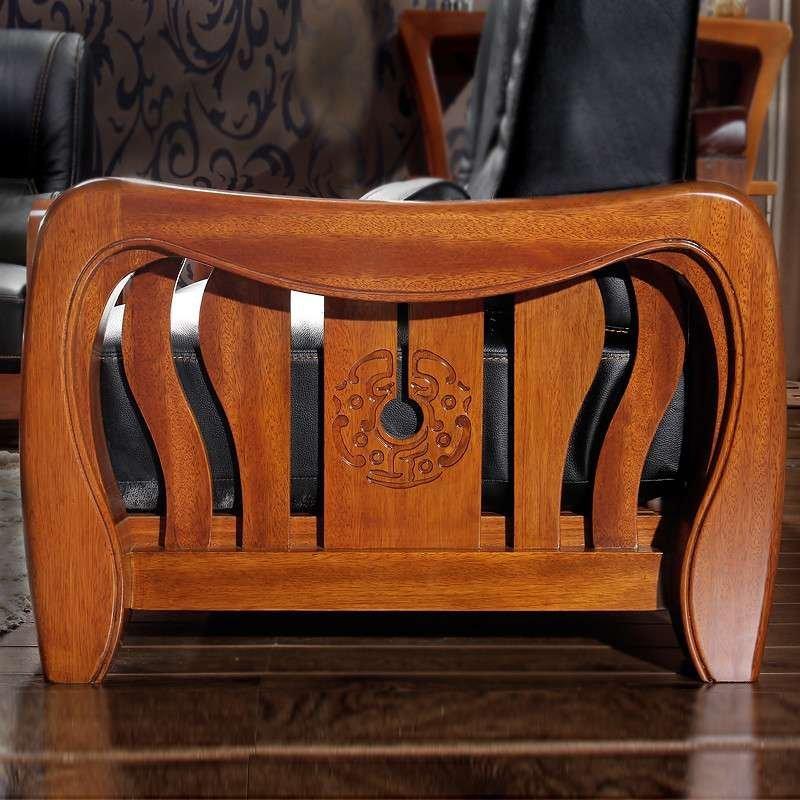 全实木沙发组合1+2+3 高端全实木家具