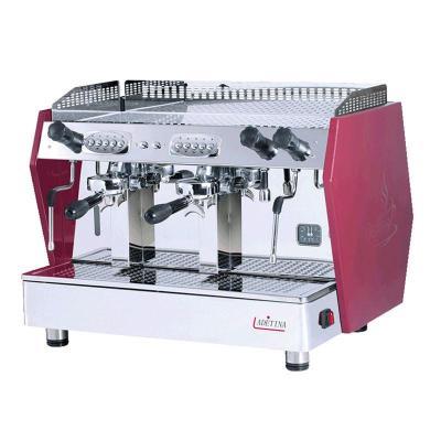 商用咖啡机 LaDeTiNa双头意式半自动咖啡机 电控手控一体机 单机价格 全国包邮售后 红色
