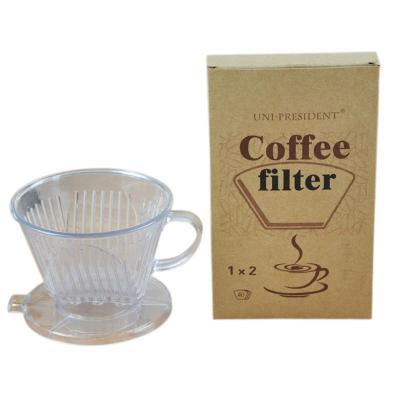 亚克力手冲咖啡滤杯+土耳其进口咖啡过滤纸40张 / 滤泡式套装 2-4人